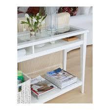 liatorp console table white glass 52