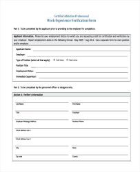 Blank Verification Of Employment Form Work 1263 Working Holiday ...
