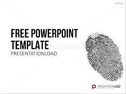Presentationload Free Powerpoint Template Fingerprint