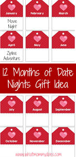Creative Coupons For Boyfriend 12 Months Of Date Night Ideas With Your Husband With Free