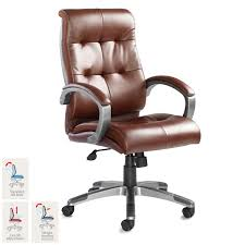 brown leather office chairs. Catania Leather Faced Executive Chair In Brown Office Chairs T