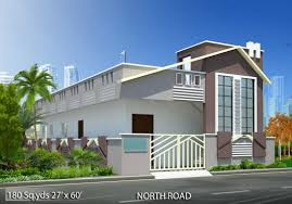 North Face Elevation Designs 180 Sq Yds 27x60 Sq Ft North Face House 2bhk Elevation View