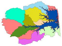 Digital Watershed And Bay Boundaries For Rehoboth Bay