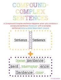 Complex Sentence Anchor Chart Grammar Anchor Charts Compound Complex Sentences
