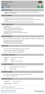 Sample Resume Format For Engineers Rare Mechanical Engineering ...