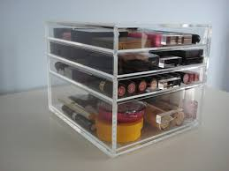 Amazon.com: ACRYLIC MAKEUP COSMETICS ORGANIZER 4 DRAWER BEAUTY CUBE STORAGE  CASE (Crystal Knobs (Handles)): Beauty