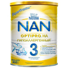 Nestle <b>NAN 3 гипоаллергенный</b> 400 гр купить в интернет ...