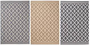 diamond design rug durable flat weave polypropylene stain resistant mat home