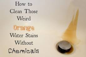 are you like us and struggle with these ugly orange water stains on your tubs