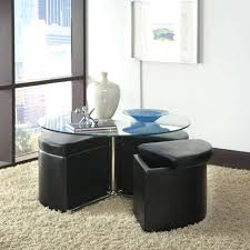 coffee table round seats tables seating with nested underneath bench