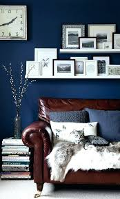 dark blue accent wall living room dark blue living room navy blue