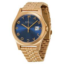 marc by marc jacobs the slim blue dial rose gold tone steel men s marc by marc jacobs the slim blue dial rose gold tone steel men s watch mbm3316