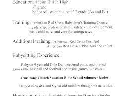 Resume For Babysitting Babysitter Sample Resume Sample Nanny Resume