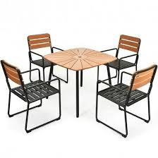 5pcs outdoor patio dining table set