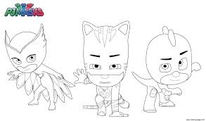 Small Picture PJ Masks Superheroes Coloring pages Printable