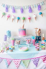 Ice Cream Party table decorations