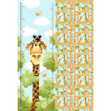 Details About Susybee Zoe Giraffe Growth Chart Inches Cm 28 X 44 Childrens Cotton Fab