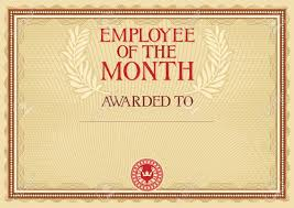 Employee Of The Month Template With Photo Employee Of The Month Certificate Template Royalty Free Cliparts