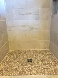 tiled shower floors sliced java tan shower floor pebble tile and interesting cleaning ceramic tile