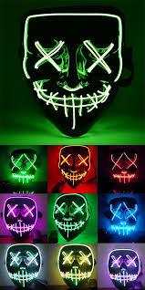 Halloween Led Light Up Purge Mask Pin On Tet Gadgets