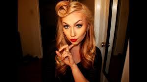 50 s retro pin up makeup look