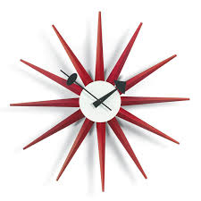 george nelson sunburst clock red vitra wall clocks to view additional images