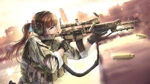 anime gun wallpaper 1920x1080. Exellent Anime Anime Girls With Guns HD Wallpaper 1920x1080 Inside Gun W