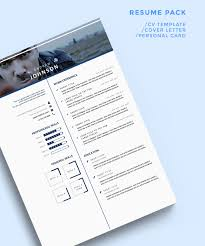 Free Clean Bluish Resume Template For Ui Designers Resumes