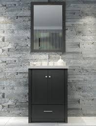 25 bathroom vanity with sink. 25 Inch Single Sink Bathroom Vanity Set In Black Finish With S