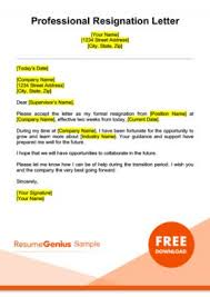 how to write a professional letter resignation letter samples free downloadable letters