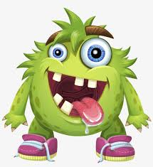 monster cartoon png cartoon characters with crooked teeth