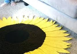 sunflower rug crochet pattern rugs for kitchen area round i sunflower rug kitchen