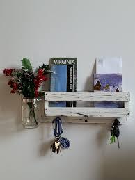 distressed white wooden entryway mail organizer mudroom organizer wall decor mail key holder