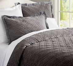 Washed Velvet Silk Quilt & Sham - Flagstone Gray | Pottery Barn &  Adamdwight.com