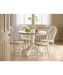 cky white natural fixed top dining table and 4 chairs at argos co