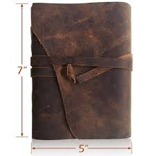 leather journal writing notebook antique handmade leather bound daily notepad for men women unlined