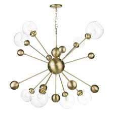 find an eye catching mid century modern style with this 5 light sputnik chandelier it features a stylish two tone blend of brass and oil rubbed