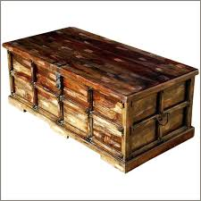 storage trunk coffee table antique chest large square wood box diy