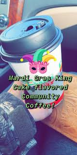 King cake cold brew concentrate steamed with milk and pure cane syrup and garnished with whipped cream. Mardi Gras King Cake Coffee Pods 24 Count Community Coffee
