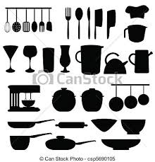 kitchen utensils vector. Kitchen Utensils And Tools In Gray Clipart Vector Search