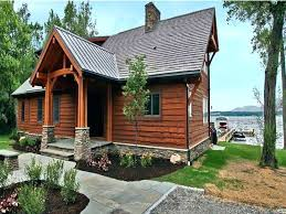 small lake cabin designs lakefront home plans with veranda cottage house walkout basement