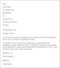 Sample Resignation Letter Format For Employee Modernmuslimwoman Com