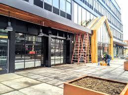 Beautiful Commercial Garage Door Restaurant For Innovation Design