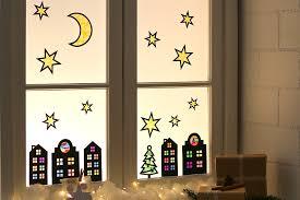 Festliche Fensterbilder Aus Karton Und Seidenpapier
