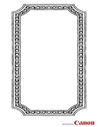 Paper Picture Frame Templates Free Printable Picture Frames Templates Photo Frame Paper Border