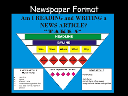 Writing A Newspaper Article How To Write Newspaper Articles Newspaper Format Ppt