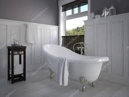 Vintage Beige Farbe Badezimmer Mit Einem Golden Sanitärtechnik 3d
