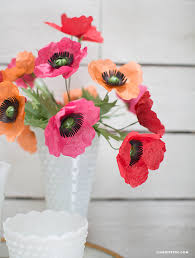 Make A Paper Poppy Flower Easy To Follow Tissue Paper Poppy Tutorial By Lia Griffith