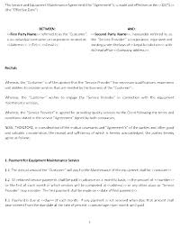 Sample Cleaning Contract Agreement Cleaning Agreement Contract Contract Cleaning Sector Free Download