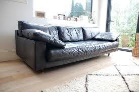vintage black leather sofa. Contemporary Leather Vintage Black Leather Sofa U2013 Mid Century 1960s Modern Style Retro  For